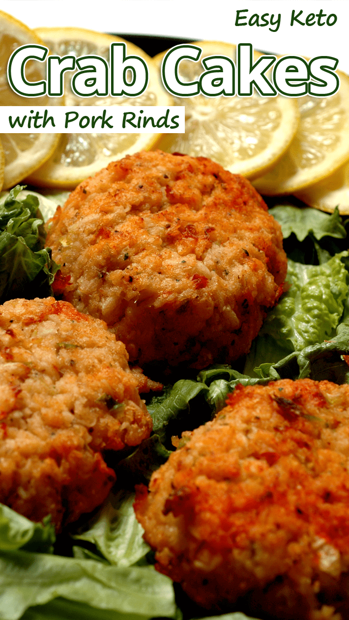 Easy Keto Crab Cakes with Pork Rinds