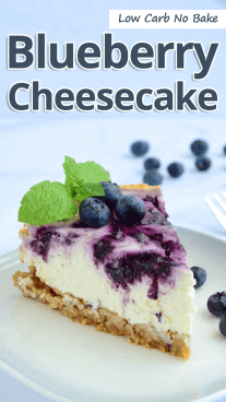 Low Carb No Bake Blueberry Cheesecake