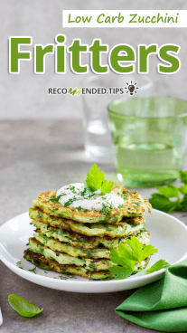 Low Carb Zucchini Fritters Featured
