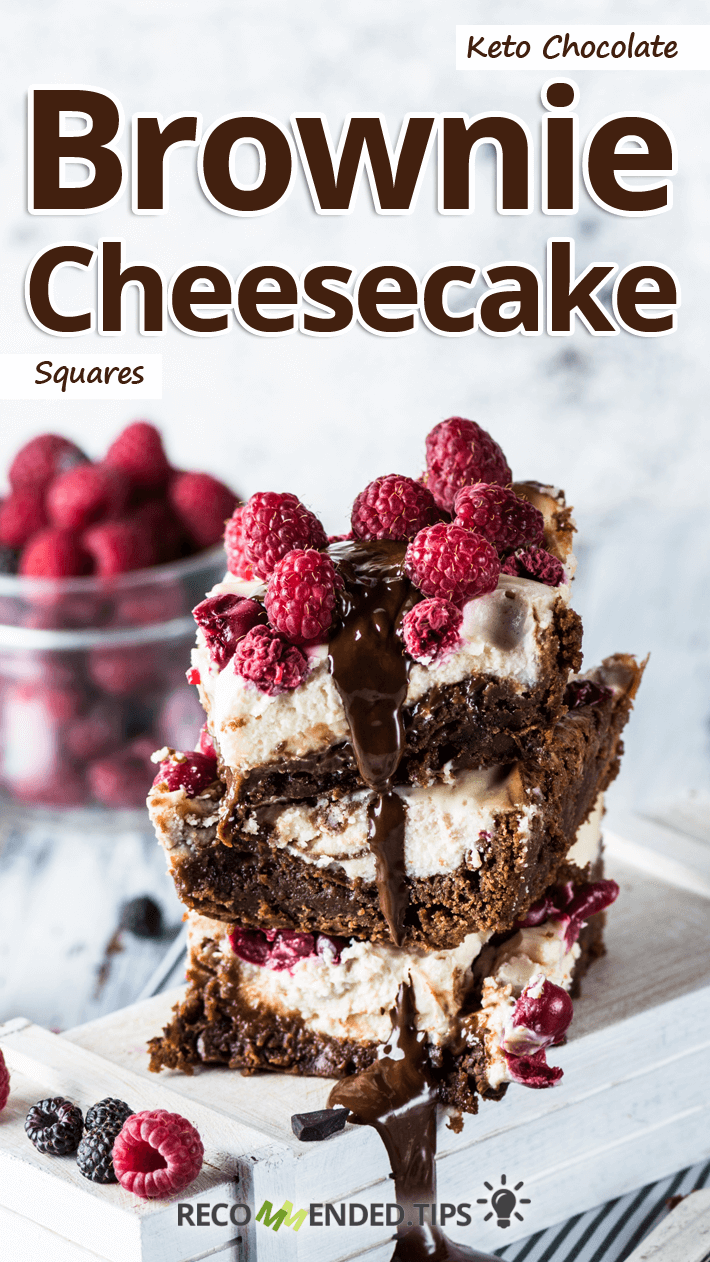 Keto Chocolate Brownie Cheesecake Squares