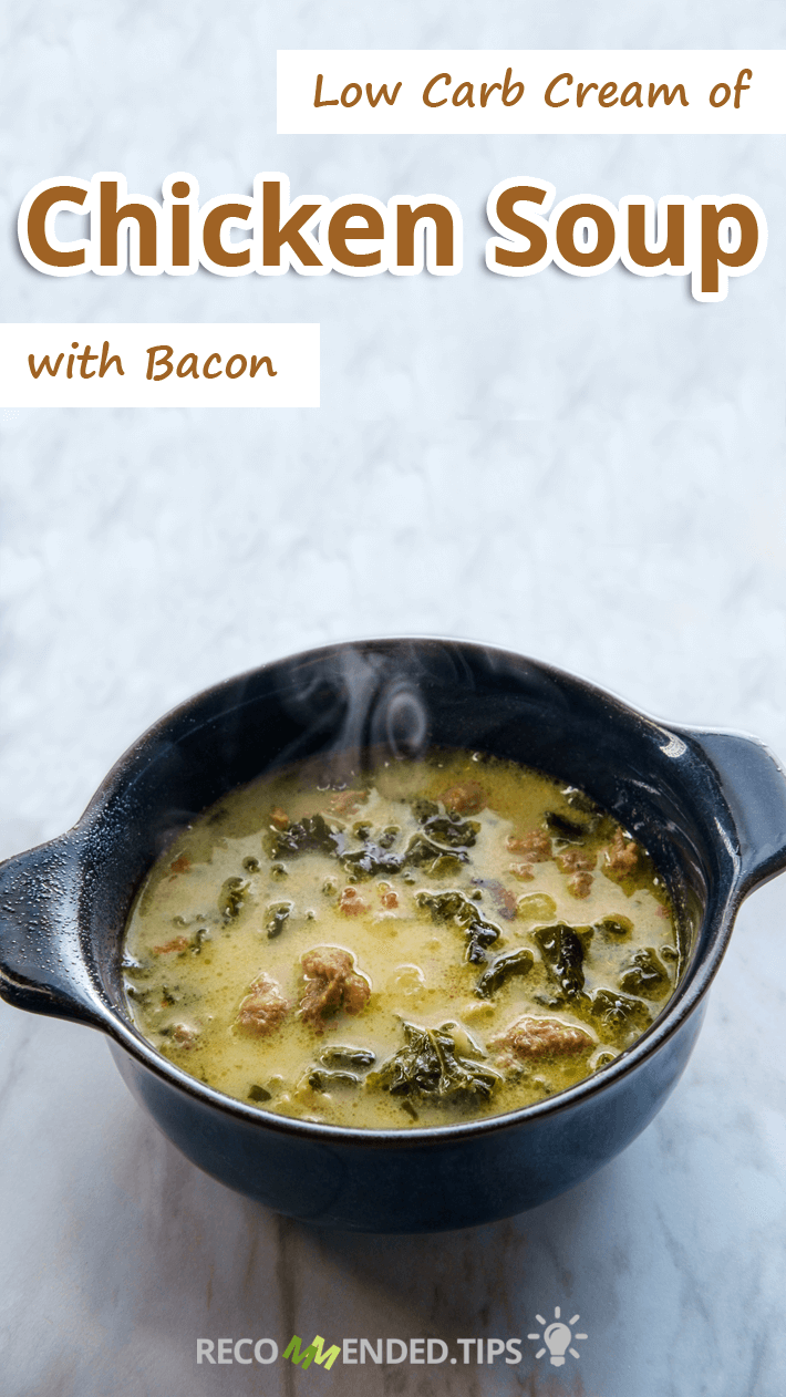 Low Carb Cream of Chicken Soup with Bacon