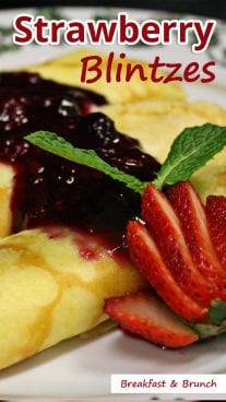 Strawberry Blintzes