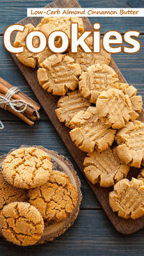Low-Carb Almond Cinnamon Butter Cookies