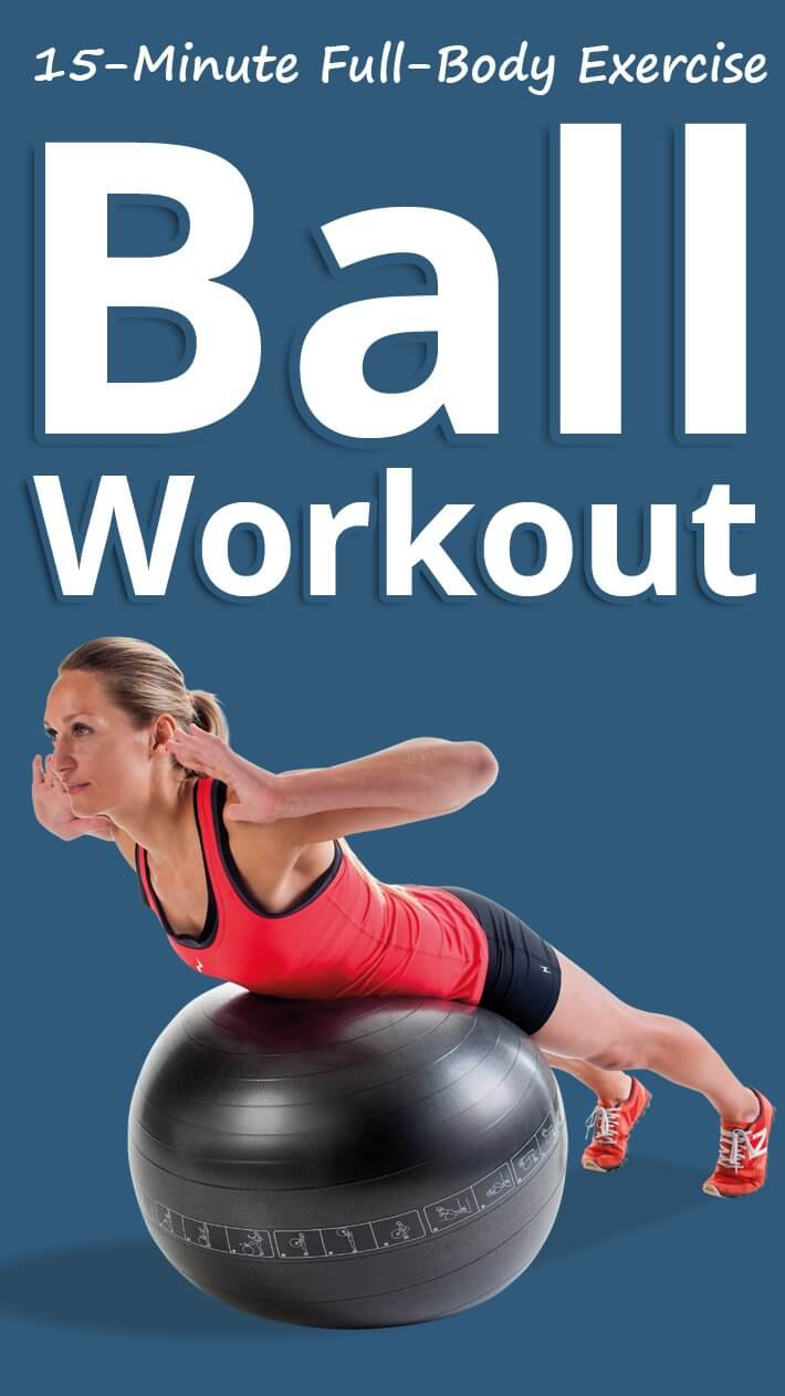 15-Minute Full-Body Exercise Ball Workout