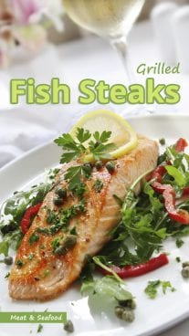 Grilled Fish Steaks