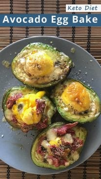 Keto Diet Avocado Egg Bake