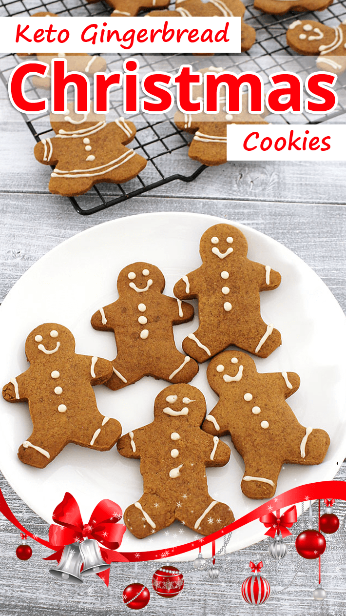 Keto Gingerbread Christmas Cookies