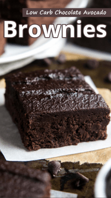 Low Carb Chocolate Avocado Brownies
