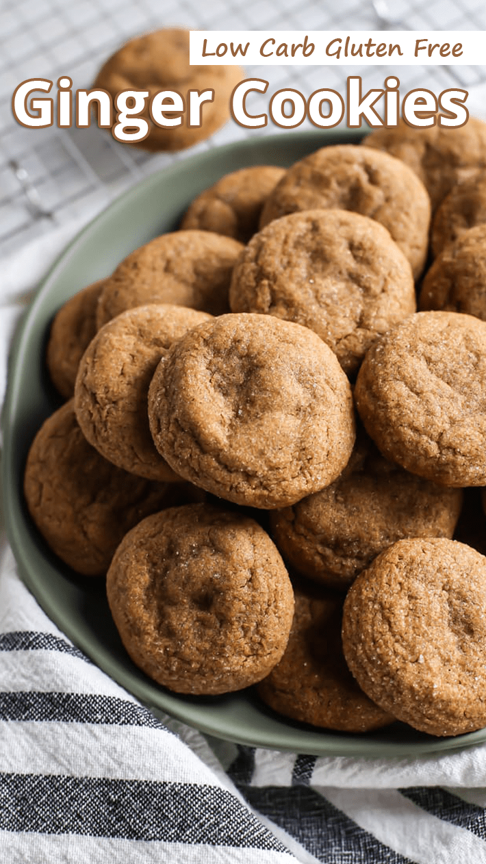 Low Carb Gluten Free Ginger Cookies